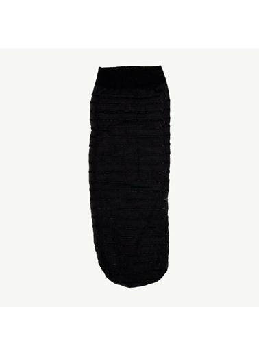 Yargıcı Yargıcı 0YKCR4031X Simli İnce Kısa Çorap Siyah